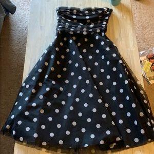 Bcbg max azria polka dot dress